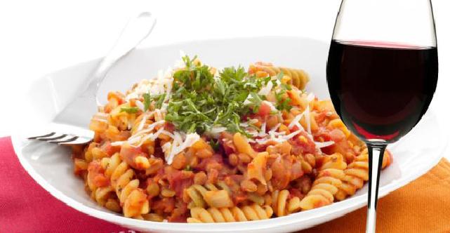 pasta, wine, reipe