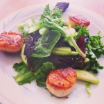 scallops, crunchy apple salad, gordon ramsay, chef, michelin star, kitchen, cuisine, cooking, culinary, food, health, fitness, weight loss, diet