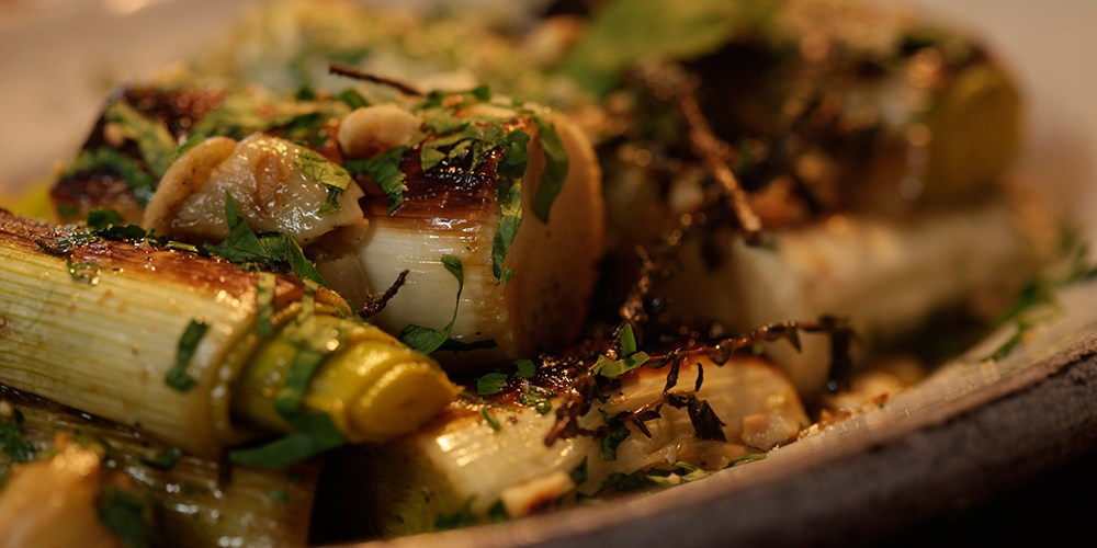 Gordon Ramsay, Braised leeks with Hazelnuts