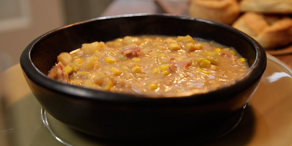 Gordon Ramsay Smoky Bacon, Sweetcorn and Potato Soup