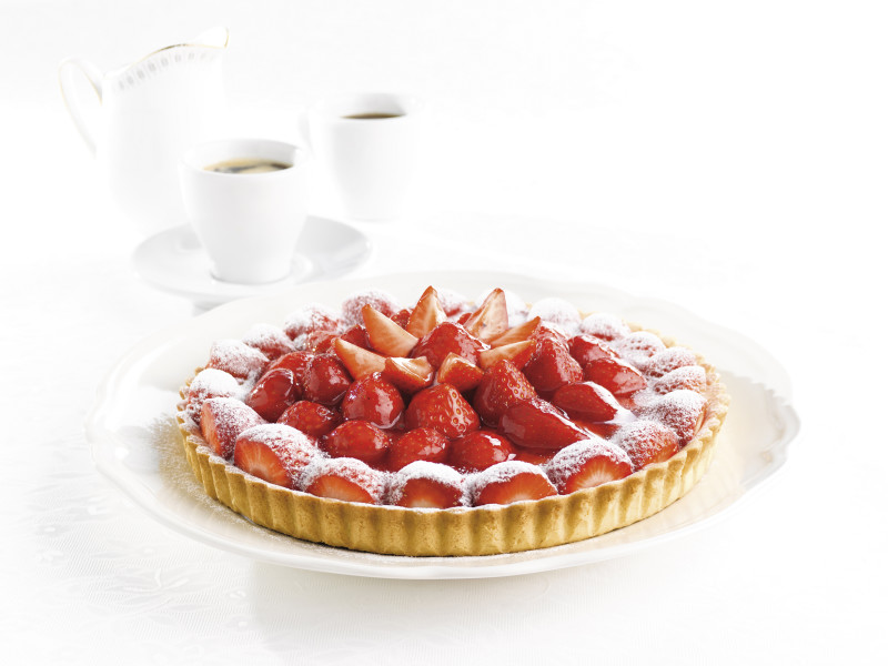 Strawberry sablée tart, ramsay