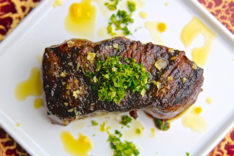 steak with Gremolata, gordon ramsay, recipe, video, tutorial, dinner