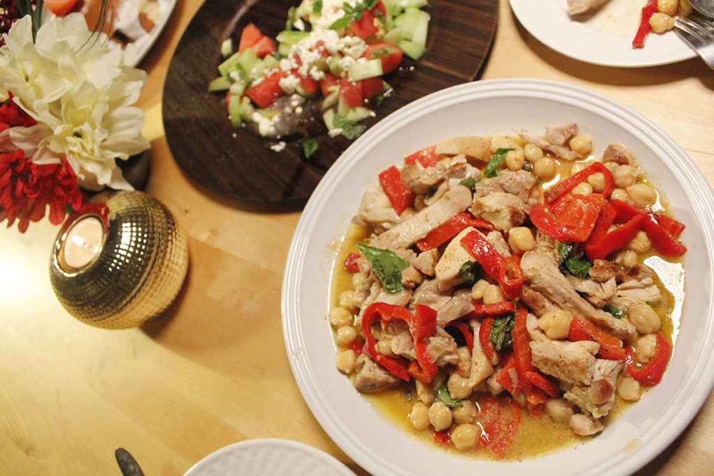 Gordon Ramsay, Griddled Chicken with Chickpeas Feta Watermelon Salad, recipe, video, food, dinner, healthy, holly