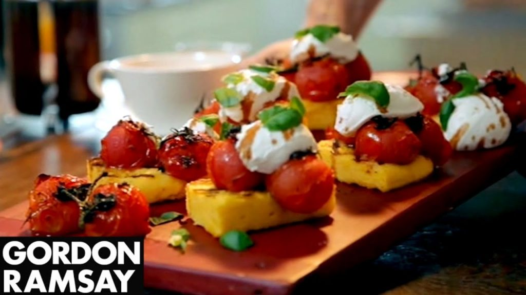 grilled polenta, chef, gordon ramsay, recipes, celebrity, cook, food, how to